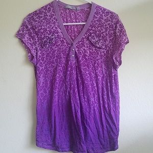 Athleta dip dye sheerish tee top L XL